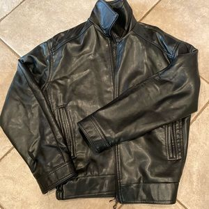 Vintage Versace leather jacket